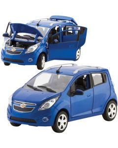 Blue Chevy Spark Scale Model